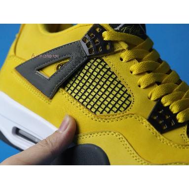 Air Jordan 4 Retro LS Lightning 314254-702 Tour Yellow/Dark Blue-Grey-White Sneakers