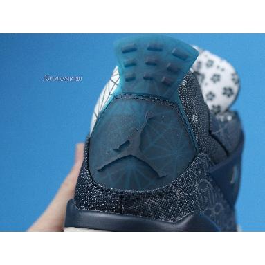 Air Jordan 4 Retro SE Sashiko CW0898-400 Deep Ocean/Sail/Cement Grey/Fire Red Sneakers