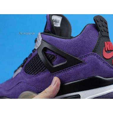 Travis Scott x Air Jordan 4 Retro Purple Suede - White Midsole AJ4-766302 Purple Dynasty/Varsity Red/Black Sneakers
