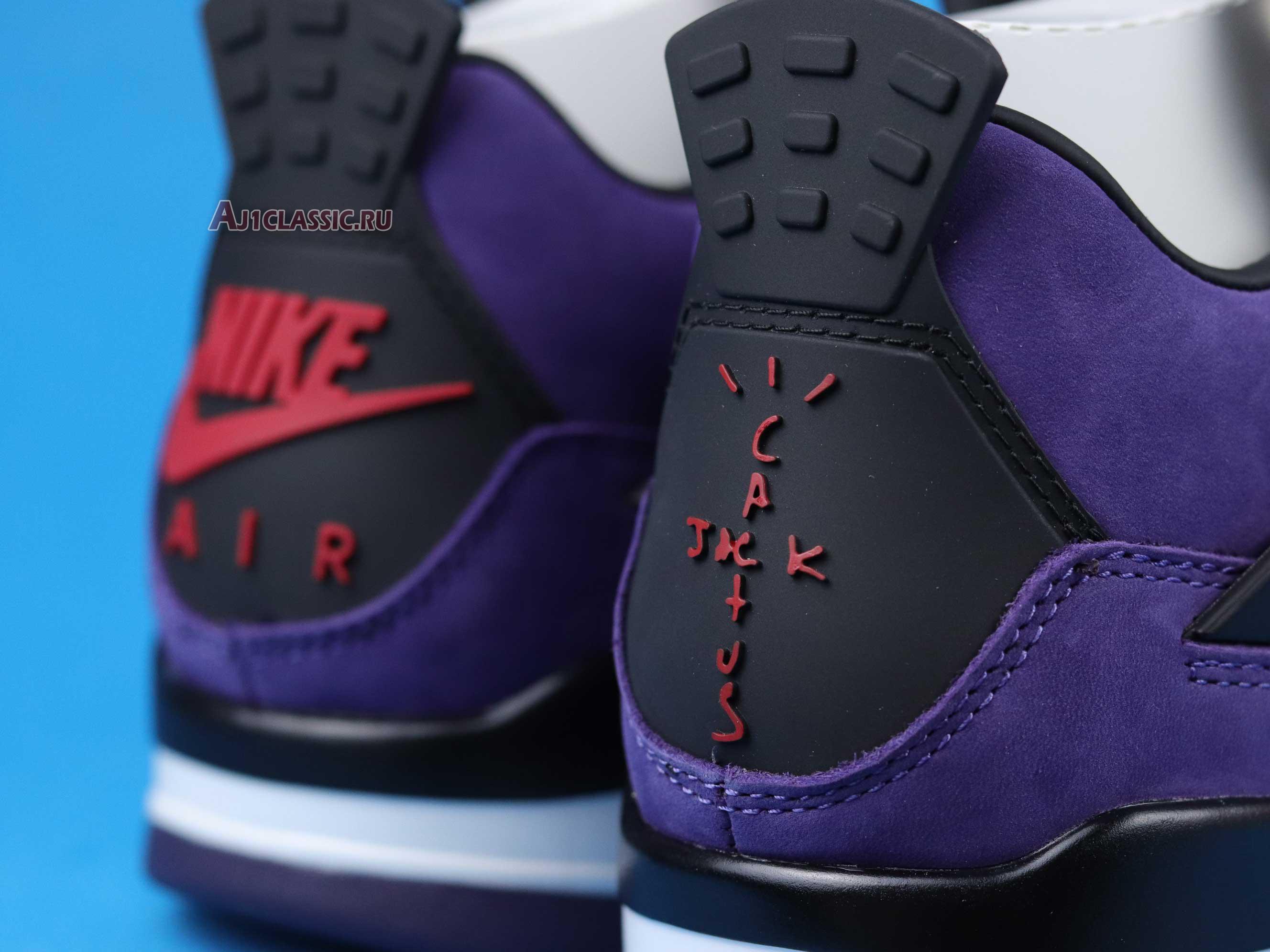 "Travis Scott x Air Jordan 4 Retro ""Purple Suede - White Midsole"" AJ4-766302"