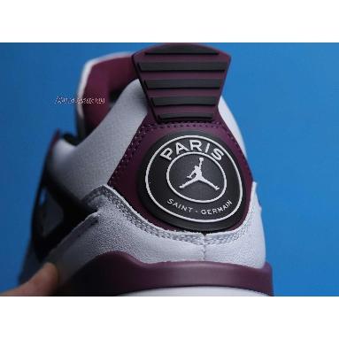 Paris Saint-Germain x Air Jordan 4 Retro Bordeaux CZ5624-100 White/Neutral Grey/Black/Bordeaux Sneakers
