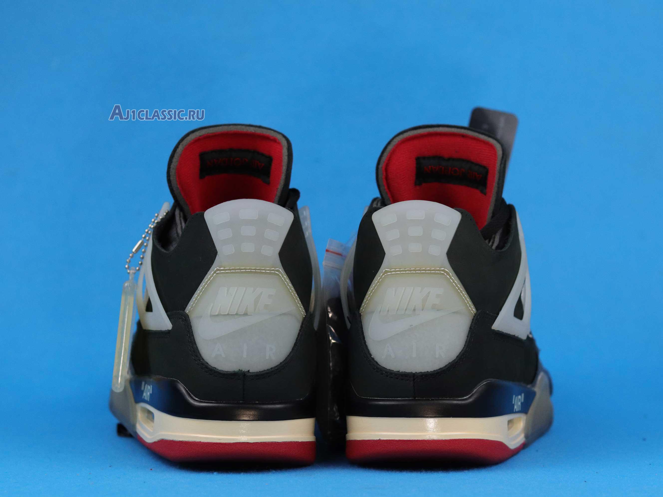 """Off-White x Air Jordan 4 Retro """"Cream Sail"""" CV9388-001"""