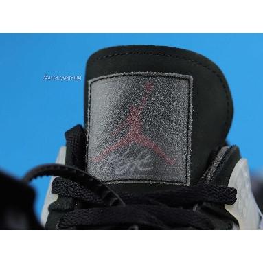 Off-White x Air Jordan 4 Retro Cream Sail CV9388-001 Black/Muslin-Black/Noir/Mousseline Sneakers