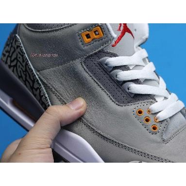 Air Jordan 3 Retro Cool Grey 2021 CT8532-012 Silver/Light Graphite/Orange Peel/Sport Red Sneakers