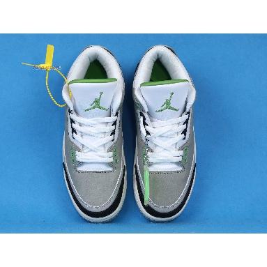 Air Jordan 3 Retro Chlorophyll 136064-006 Light Smoke Grey/Chlorophyll-Black-White-Sail Sneakers