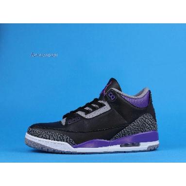 Air Jordan 3 Retro Court Purple CT8532-050 Black/Cement Grey/White/Court Purple Sneakers