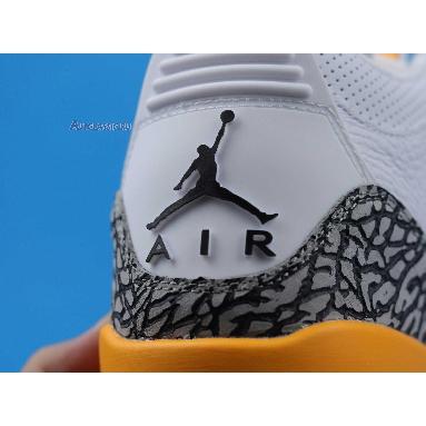 Air Jordan 3 Retro Laser Orange CK9246-108 White/Laser Orange/Cement Grey/Black Sneakers