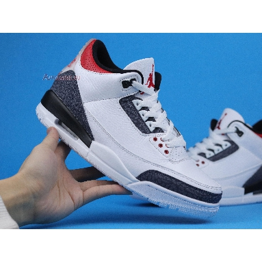 Air Jordan 3 SE-T Fire Red Japan Exclusive CZ6433-100 White/Fire Red/Black Sneakers