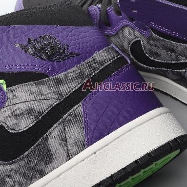 Air Jordan 1 Zoom Comfort Bayou Boys DC2133-500 New Orchid/Lime Blast/Black Sneakers