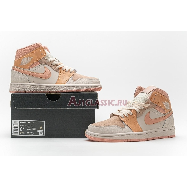 Air Jordan 1 Mid Atomic Orange DH4270-800 Atomic Orange/Apricot Agate-Terra Blush Sneakers