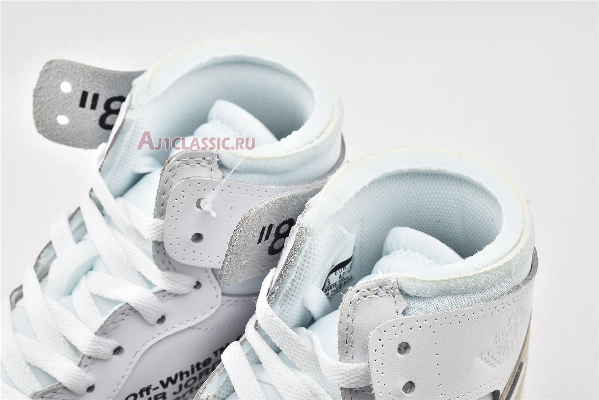 """Off-White x Air Jordan 1 Retro High OG """"White 2018"""" AQ0818-100-2"""