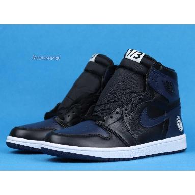 Spike Lee x Air Jordan 1 Retro High OG Fort Greene 705588-550 Midnight Navy/Black-White Sneakers