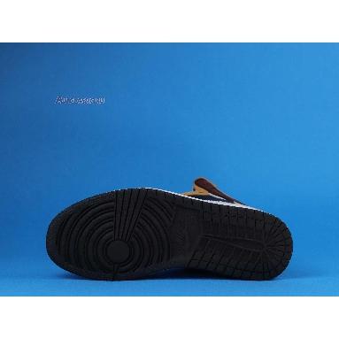 The Shoe Surgeon x Air Jordan 1 High Travis Scott Earth Tone Scrap Leather CD4487-100-3 Brown/Black/Earth Tone/White/Multi Color Sneakers