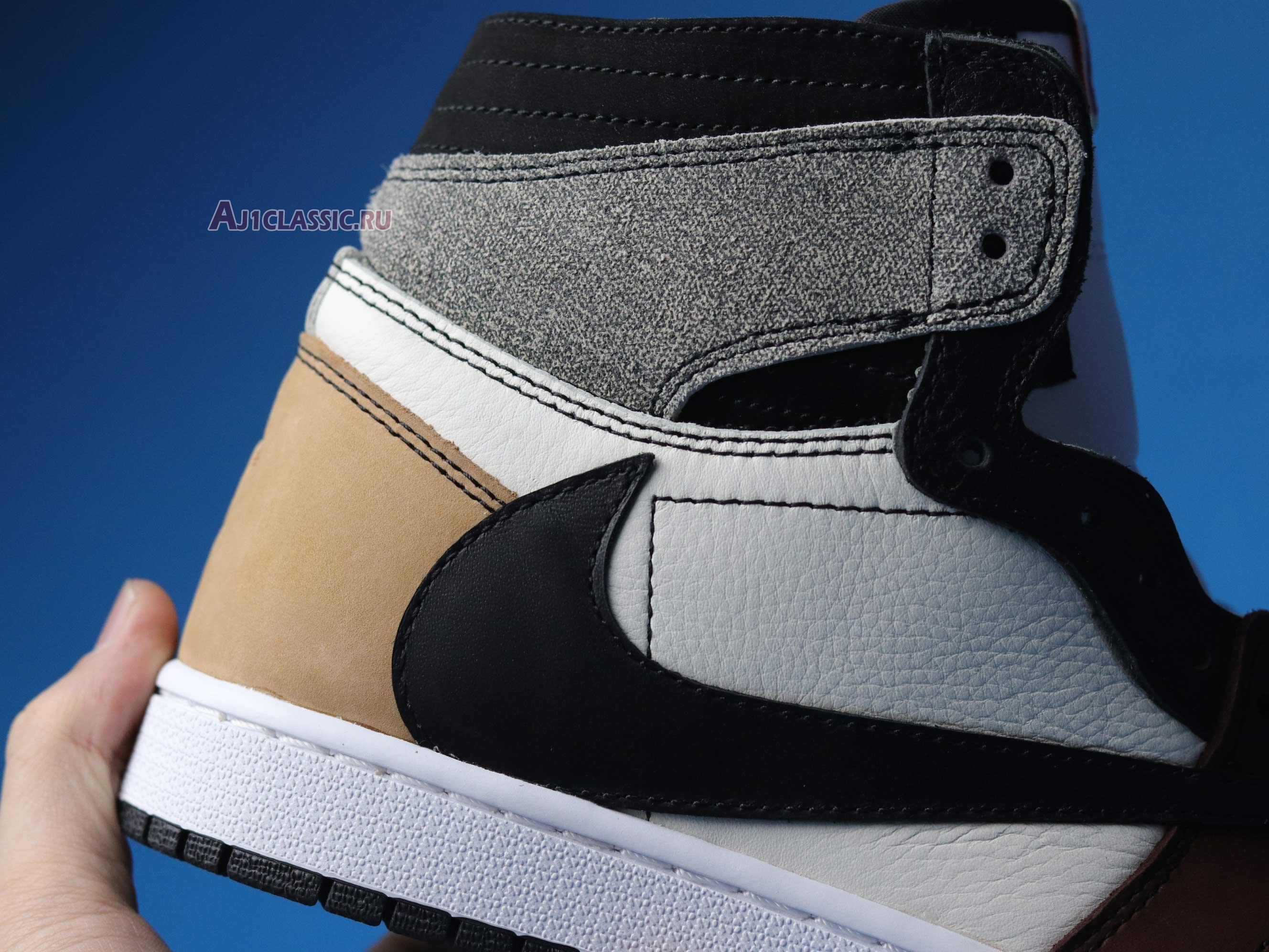 "The Shoe Surgeon x Air Jordan 1 High ""Travis Scott Earth Tone Scrap Leather"" CD4487-100-3"