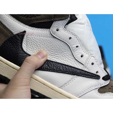 Travis Scott x Air Jordan 1 Reverse Alternate CD4487-100-2 Sail/Black-Dark Mocha-University Red Sneakers
