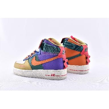 Nike Air Force 1 High Utility Force is Female CQ4810-046 Purple/Green/Orange/Blue/Brown/White Sneakers