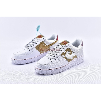Nike Air Force 1 Low Metallic Gold CT3437-100 White/Metallic Gold/University Red/Metallic Silver Sneakers