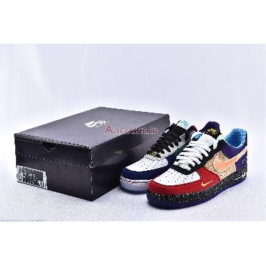Nike Air Force 1 07 LV8 What The LA CT1117-100 White/Black-Hyper Jade Sneakers
