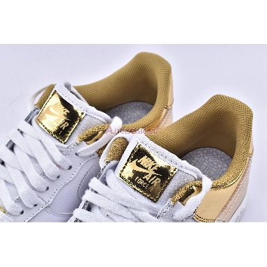Nike Air Force 1 07 PRM Shanghai CU2991-197 White/Metal Gold/Light Gold/Clear Sneakers