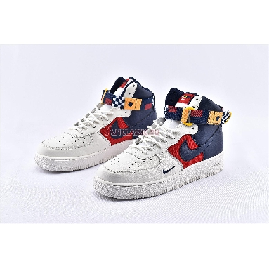 Nike Air Force 1 High Nautical Redux AR5395-100 Sail/Midnight Navy-Gym Red-Midnight Navy-University Gold Sneakers