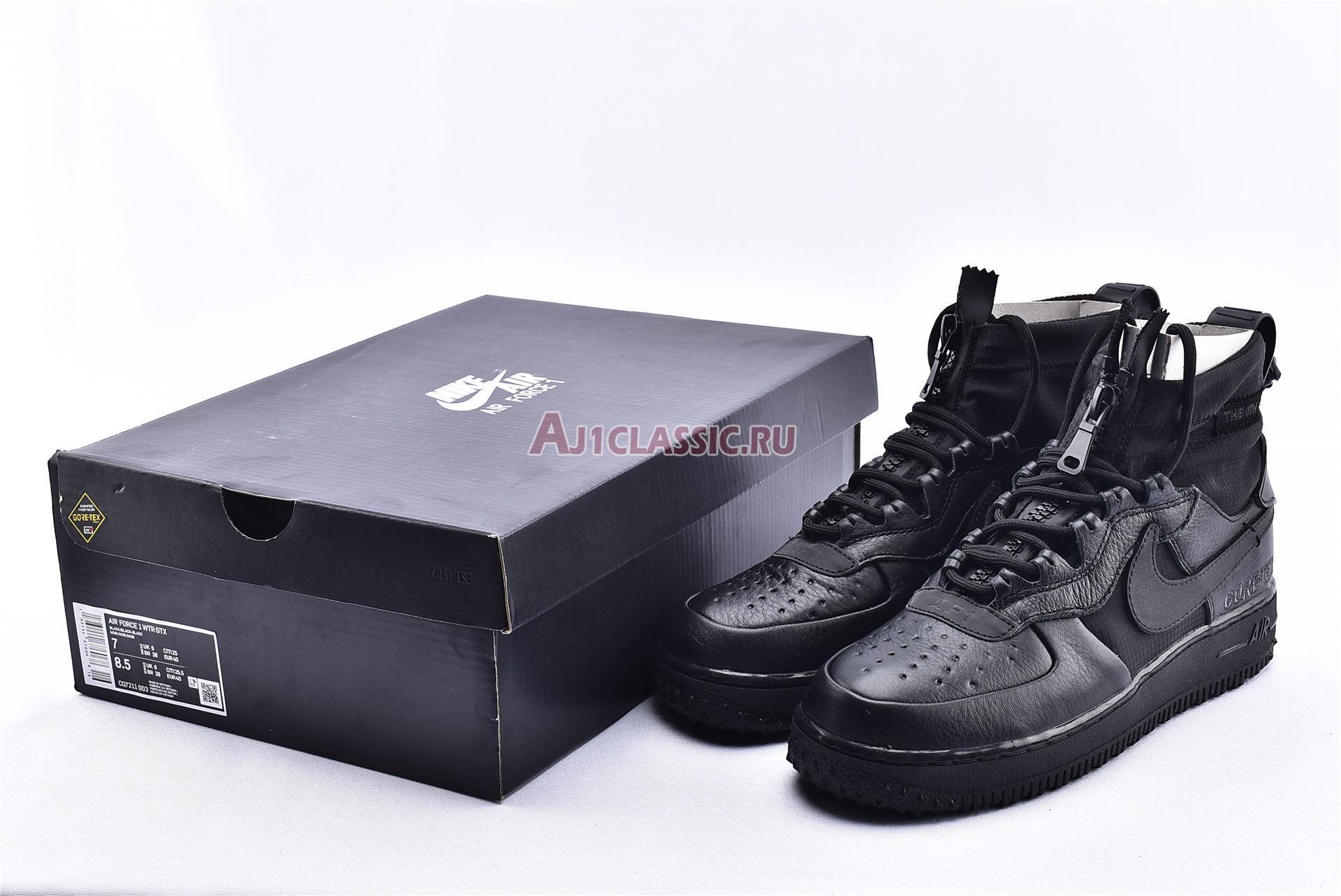 """Gore-Tex x Nike Air Force 1 High """"Triple Black"""" China Exclusive CQ7211-003"""