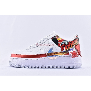 Nike Wmns Air Force 1 Jester XX FIBA 2019 China Exclusive CK5738-191 White/Multi-Color/White/Ember Glow Sneakers