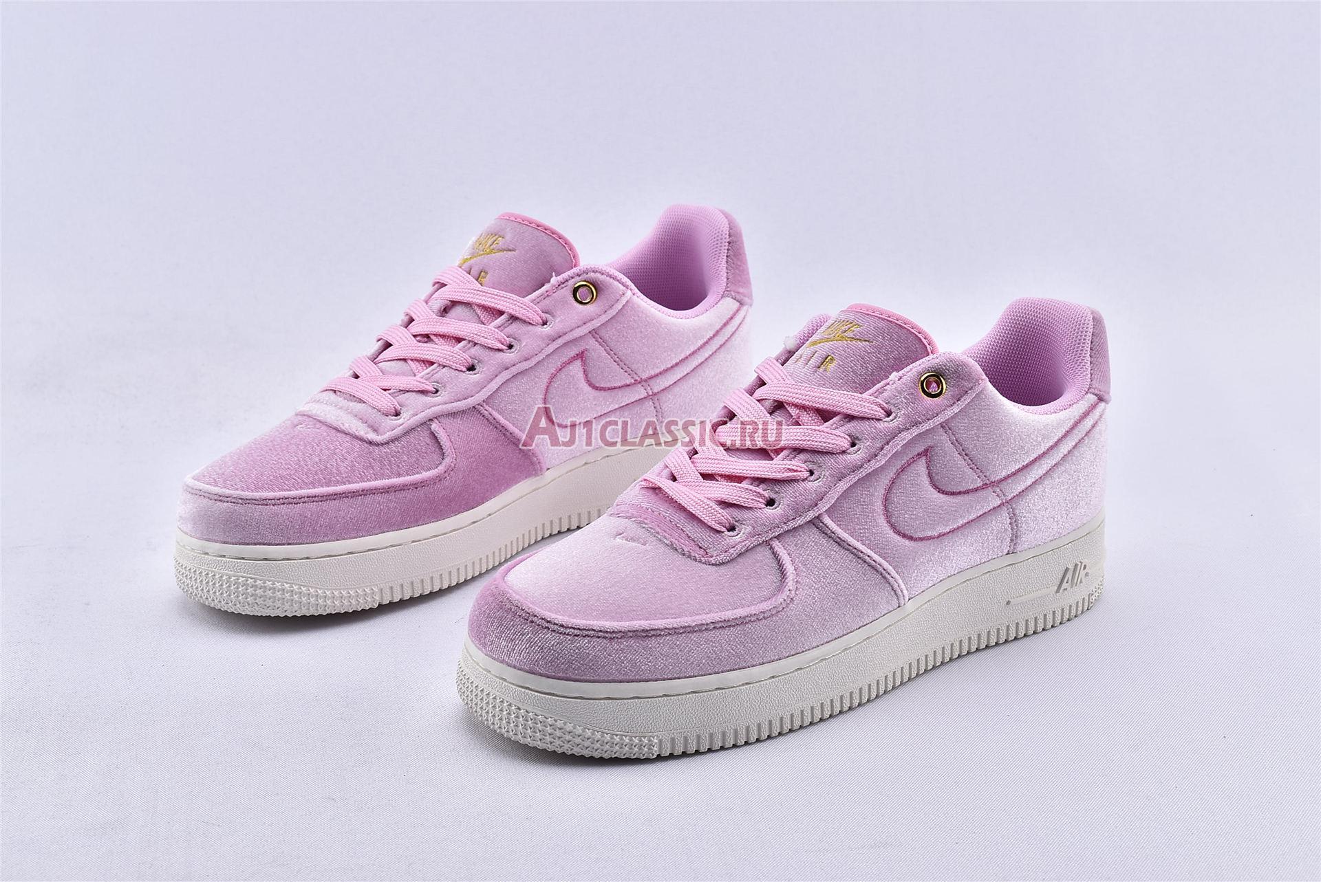 """Nike Air Force 1 Low 07 Premium """"Pink Velour"""" AT4144-600"""