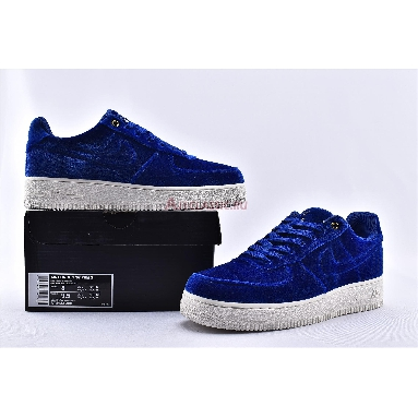 Nike Air Force 1 Low 07 Premium Blue Void AT4144-400 Blue Void/Blue Void-Sail-Metallic Gold Sneakers