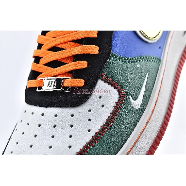 Nike Air Force 1 Low 07 What The NYC CT3610-100 White/Black/Total Orange/Racer Blue Sneakers