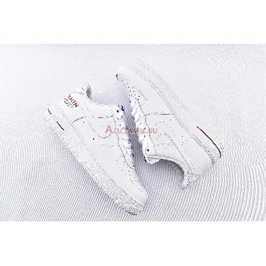 NBA x Air Force 1 Low Paris Game 2020 CW2367-100 White/University Red/Rush Blue/White Sneakers