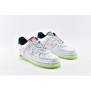 Nike Air Force 1 Low BG Outside the Lines CV2421-100 White/White/Racer Blue/Aurora Green Sneakers
