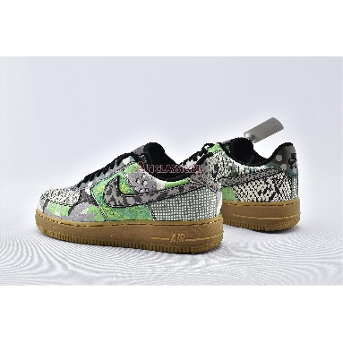 Nike Air Force 1 Low QS Chicago CT8441-002 Black/Black/Green Spark Sneakers