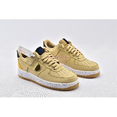 NBA x Air Force 1 07 LV8 Sesame University Gold CT2298-200 Sesame/University Gold/Deep Royal Blue/Sesame Sneakers