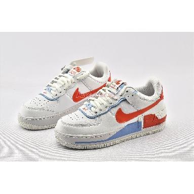 Nike Wmns Air Force 1 Shadow SE Team Orange Blue CQ9503-100 Summit White/Summit White/Team Orange Sneakers