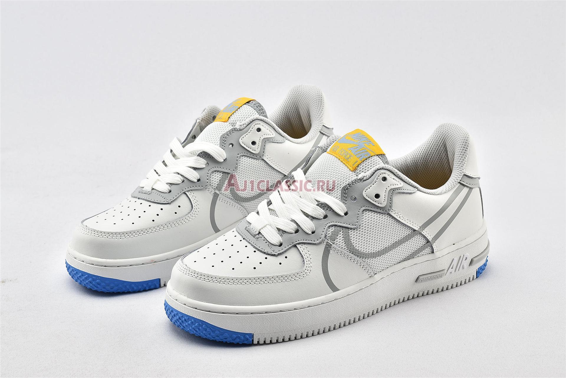 """Nike Air Force 1 React """"Smoke Grey Gold"""" CT1020-100"""