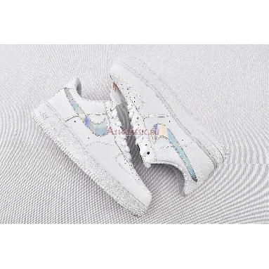 Nike Air Force 1 Low Iridescent Swoosh CJ1646-100 White/White-White Sneakers