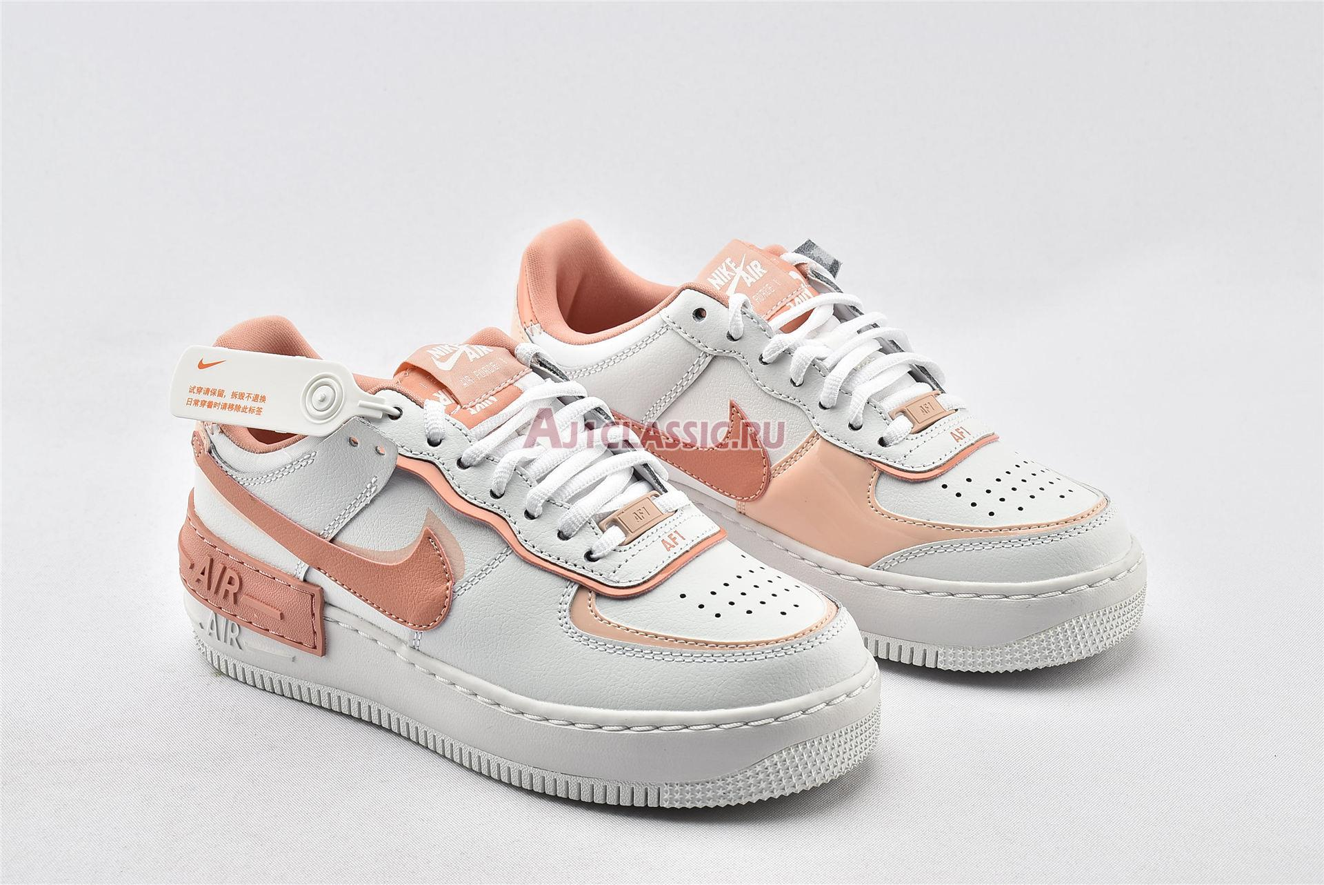 """Nike Wmns Air Force 1 Shadow """"Washed Coral"""" CJ1641-101"""
