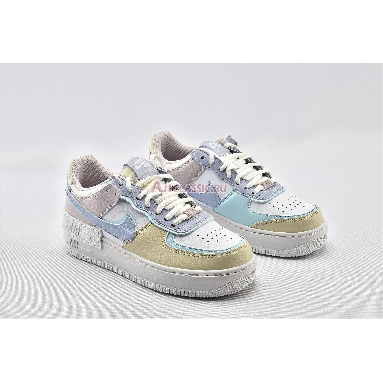 Nike Air Force 1 Low Shadow CI0919-106 Summit White/Glacier Blue-Fossil-Ghost Sneakers