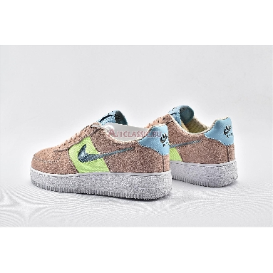 Nike Air Force 1 Low Cut Out Pink CJ1647-600 Washed Coral/Ghost Green-Black-Oracle Aqua Sneakers
