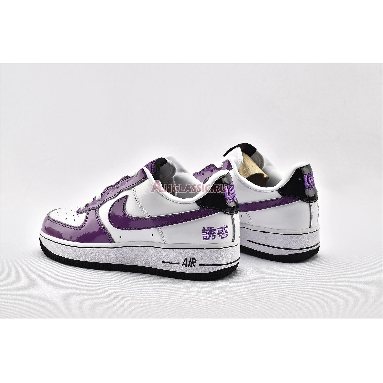 Nike Air Force 1 Chamber Of Fear Temptation AV2051-100 White/Hyacinth-Black Sneakers