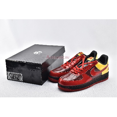 Nike Air Force 1 Chamber Of Fear Hater AV2052-600 Redwood/Varsity Red-Taxi-Black Sneakers