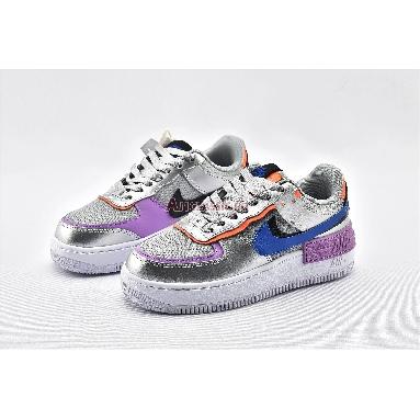Nike Wmns Air Force 1 Shadow Metallic Silver CW6030-001 Metallic Silver/Fuchsia Glow/Hyper Crimson/Racer Blue DESIGNER Bruce Kilgore SILHOUETTE Air Force 1 TECHNOLOGY Air NICKNAME Metallic Silver CATEGORY Sneakers