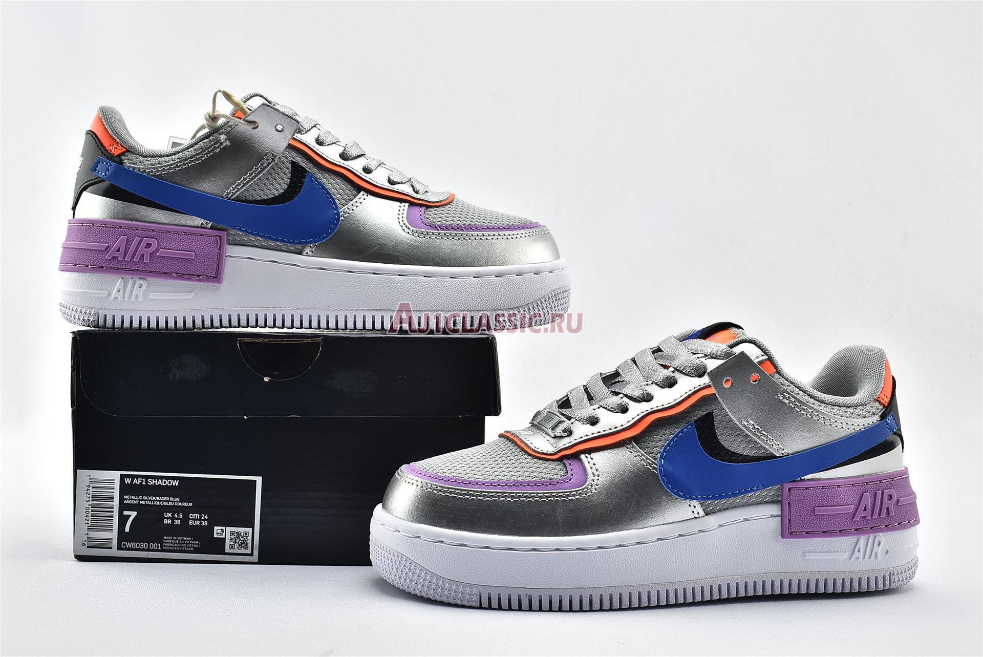"Nike Wmns Air Force 1 Shadow ""Metallic Silver"" CW6030-001"