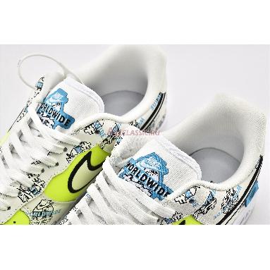 Nike Air Force 1 Low Worldwide Pack DA1343-117 White/White-Volt-Blue Fury Sneakers
