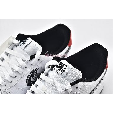 Nike Air Force 1 Low Brushstroke Swoosh - White DA4657-100 White/University Red/Black Sneakers