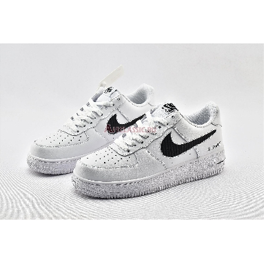 Nike Air Force 1 Low With Cut-Out  CZ7377-100 White/Black Sneakers