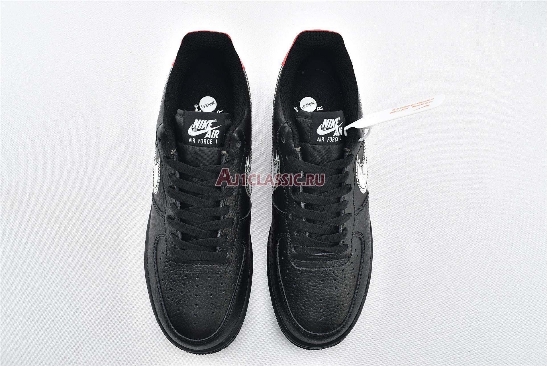 """Nike Air Force 1 Low """"Brushstroke Swoosh - Black"""" DA4657-001"""