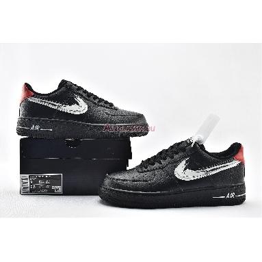 Nike Air Force 1 Low Brushstroke Swoosh - Black DA4657-001 Black/White/University Red Sneakers