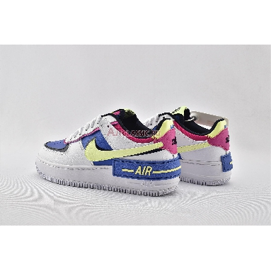 Nike Wmns Air Force 1 Shadow Sapphire CJ1641-100 White/Barely Volt/Sapphire/Fire Pink Sneakers