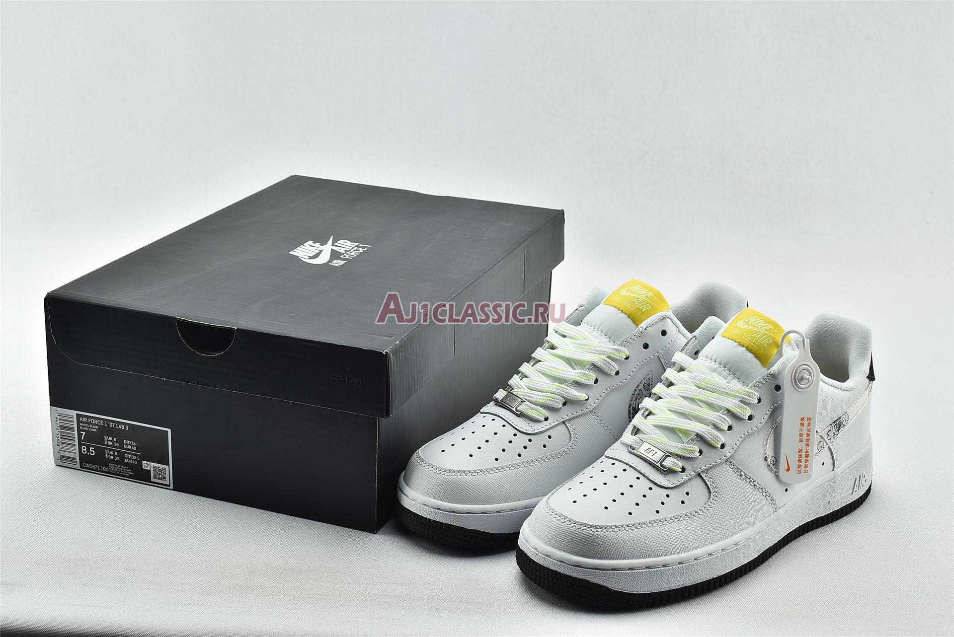 """Nike Air Force 1 07 LV8 """"Daisy Pack"""" CW5571-100"""